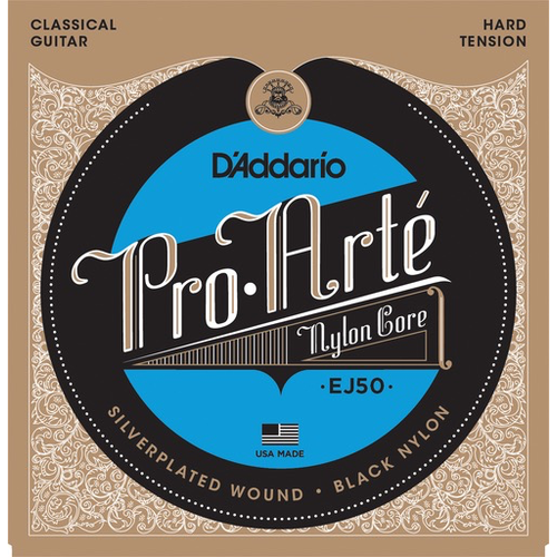 D'Addario D'Addario ProArte Black Nylon Classical Guitar String Set