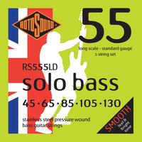 Rotosound Solo Bass 55 Pressurewound 5-String Set, .045-.130