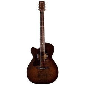 Art & Lutherie Legacy Left-Handed Concert Hall Electro-Acoustic, Solid Spruce Top, Wild Cherry Back, Bourbon Burst w/ Q1T Pickup