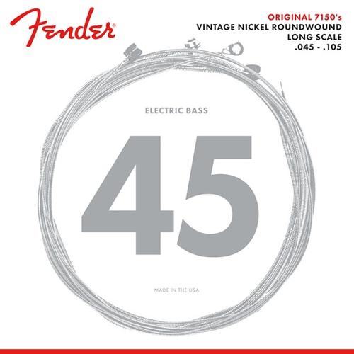 Fender Accessories Fender Original 7150 Bass String Set, Pure Nickel