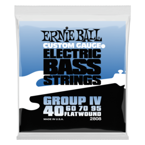 Ernie Ball Bass Guitar String Set, Flatwound