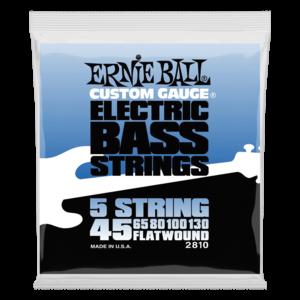 Ernie Ball Flatwound 5-String Bass Guitar String Set, .045-.130