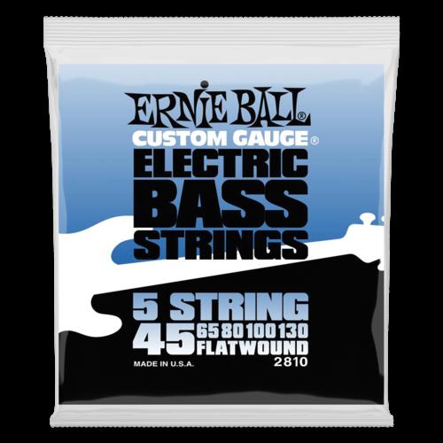 Ernie Ball Ernie Ball Flatwound 5-String Bass Guitar String Set, .045-.130