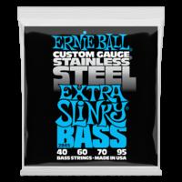 Ernie Ball Bass Guitar String Set, Custom Gauge Stainless Steel