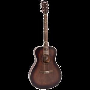 Vintage V300 Folk Guitar, Solid Spruce Top, Antiqued
