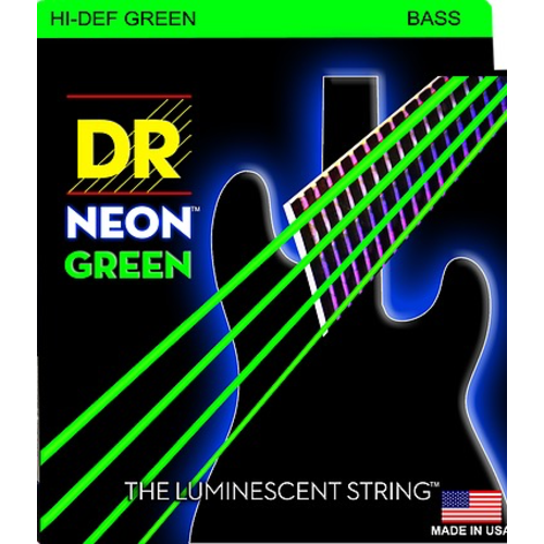 DR Strings DR Neon Bass String Set, Green