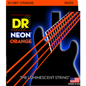 DR Neon Bass String Set, Orange
