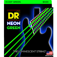 DR Neon 5-String Bass String Set, Green, .045-.125