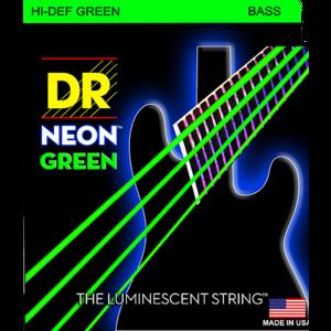 DR Neon 5-String Bass String Set, Green, .045-.125