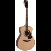 Vintage V300 Folk Guitar, Solid Spruce Top