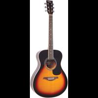 Vintage V300VSB Folk Guitar, Solid Spruce Top, Vintage Sunburst