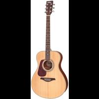 Vintage V300 Left Handed Folk Guitar, Solid Spruce Top