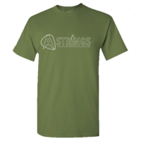 A Strings Silhouette Logo T-Shirt, Military Green