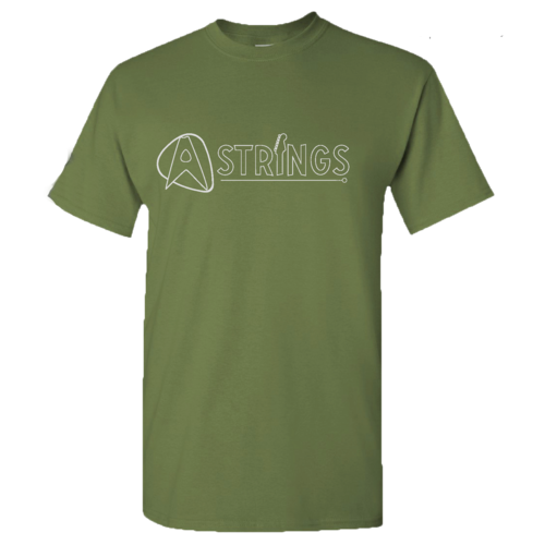 A Strings A Strings Silhouette Logo T-Shirt, Military Green
