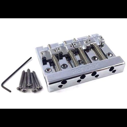 Fender Accessories Fender Bridge Assembly, HiMass 4-String Bass, Brass Saddles
