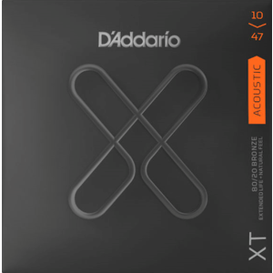 D'Addario XT Coated Acoustic String Set, 80/20 Bronze