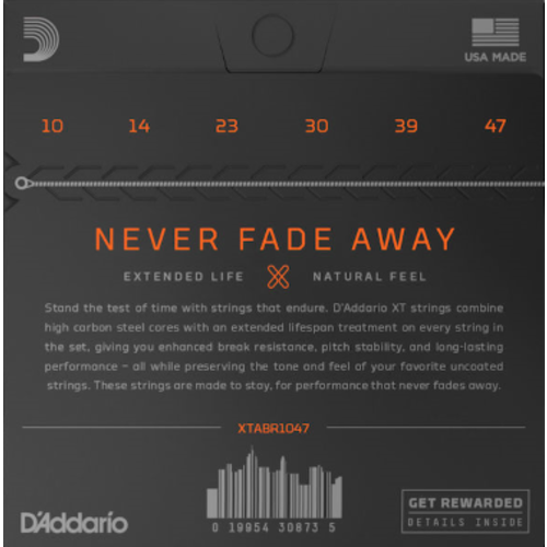 D'Addario D'Addario XT Coated Acoustic String Set, 80/20 Bronze