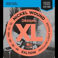 D'Addario XL Electric Guitar String Set, Wound 3rd