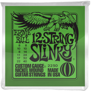 Ernie Ball 12-String Slinky Guitar String Set, Nickel, .008-.040