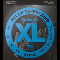 D'Addario Black Nylon Tapewound Bass Guitar String Set