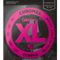 D'Addario Chromes 5-String Bass Guitar String Set