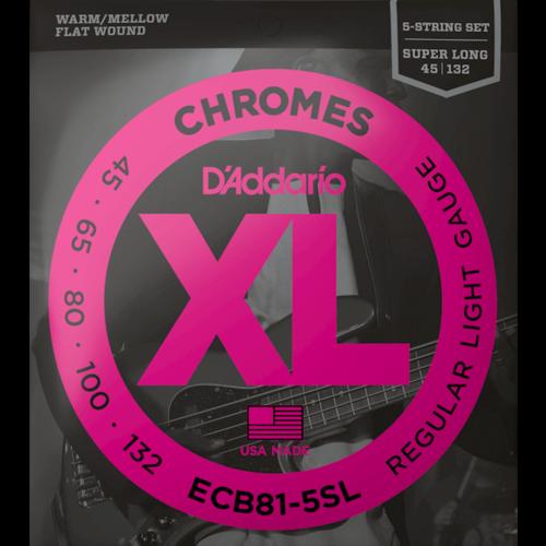 D'Addario D'Addario Chromes 5-String Bass Guitar String Set