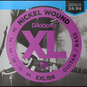 D'Addario XL Fender Bass VI String Set EXL156 .024-.084