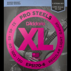 D'Addario ProSteels 6-String Bass Guitar String Set