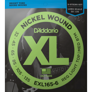 D'Addario XL 6-String Bass Guitar String Set