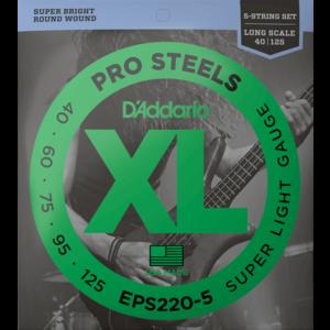 D'Addario ProSteels 5-String Bass Guitar String Set