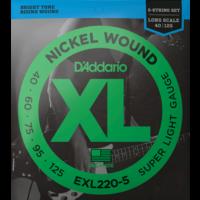 D'Addario XL 5-String Bass Guitar String Set