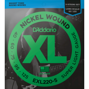 D'Addario XL 5-String Bass Guitar String Set