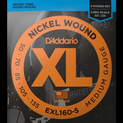D'Addario D'Addario XL 5-String Bass Guitar String Set
