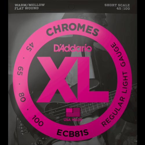 D'Addario D'Addario Chromes Bass Guitar String Set, Flatwound