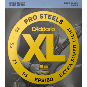 D'Addario ProSteels Bass Guitar String Set