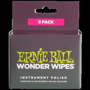 Ernie Ball Wonder Wipes Guitar Polish 6-Pack