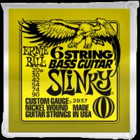 Ernie Ball 6-String Bass Guitar String Set, .020-.090, Short Scale for Fender VI Style Basses