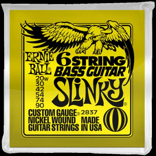 Ernie Ball Ernie Ball 6-String Bass Guitar String Set, .020-.090, Short Scale for Fender VI Style Basses