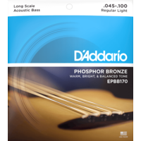 D'Addario Acoustic Bass String Set, Phosphor Bronze, EPBB170 .045-.100
