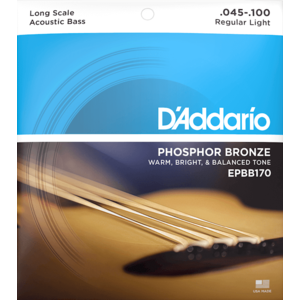 D'Addario Acoustic Bass String Set, Phosphor Bronze, EPBB170 .045-.100