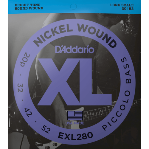 D'Addario D'Addario Piccolo Bass Strings, EXL280 .020-.052