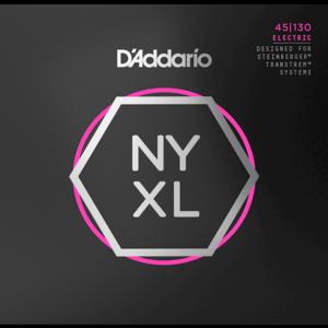D'Addario NYXL 5-String Bass Guitar String Set, Double Ball End, .045-.130