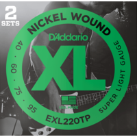 D'Addario XL Bass Twin Pack String Sets