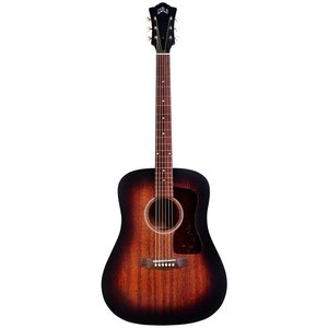 Guild D-20-E Electro-Acoustic Dreadnought Guitar, All Solid Mahogany, Antique Burst