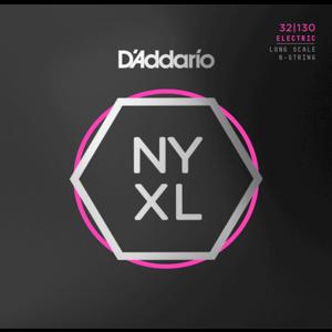 D'Addario NYXL 6-String Bass Guitar String Set, .032-.130
