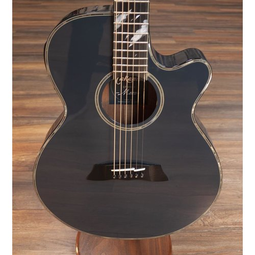 Takamine Takamine LTD 2019 Moon Guitar, Solid Spruce Top, Arched Mahogany Back, Gloss Midnight Grey