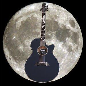 Takamine LTD 2019 Moon Guitar, Solid Spruce Top, Arched Mahogany Back, Gloss Midnight Grey
