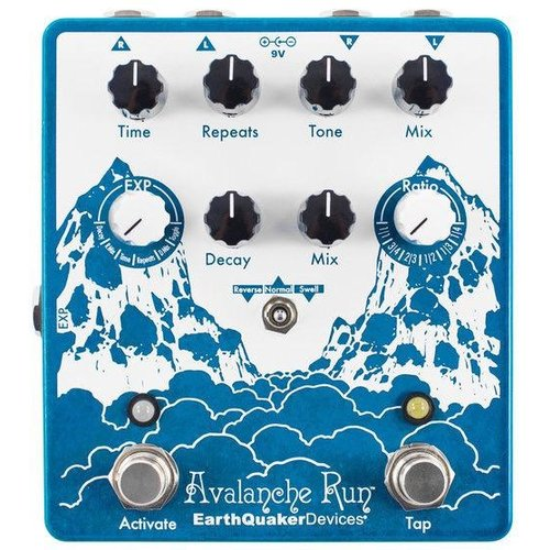 Earthquaker Devices EarthQuaker Devices Avalanche Run V2 Stereo Reverb & Delay Effects Pedal
