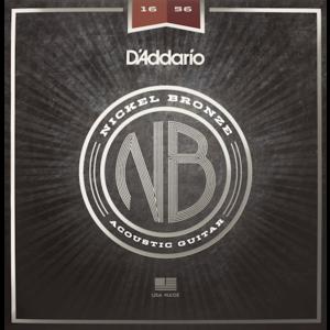 D'Addario Nickel Bronze Acoustic String Set, Phosphor Bronze, Resophonic .016-.056