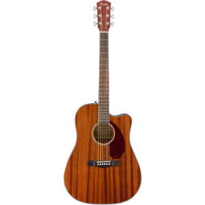 Fender CD-140SCE Dreadnought Cutaway Electro, All Mahogany, Solid Top, w/ Fishman and Case